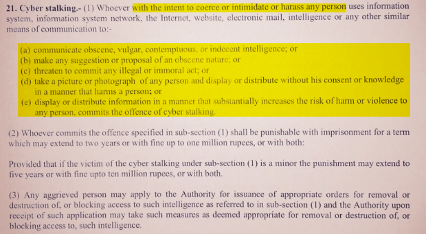 "Doesn't get any clearer than ""INTENT TO COERCE OR INTIMIDATE OR HARASS ANY PERSON"", does it?"